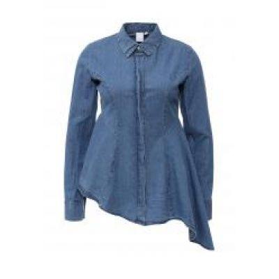 Рубашка джинсовая DENIM SHIRT WITH PEPLUM